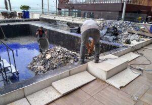 Impermeabilização de Cobertura laje piscinas piscina terraço jardim suspenso Navegantes Barra Velha Piçarras Gaspar Ilhota Brusque